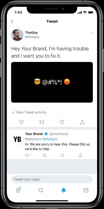 Twitter phone demo
