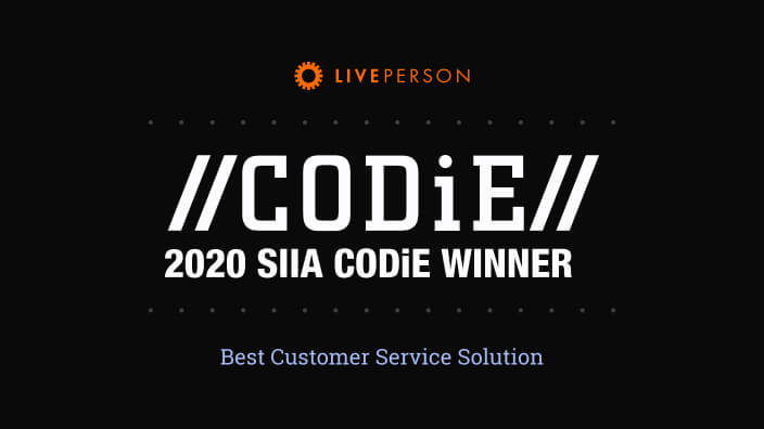 LivePerson named Best Customer Service Solution at CODiE Awards