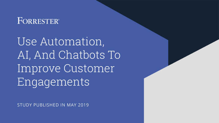 Study: Use of automation, AI, and chatbots to improve customer engagements