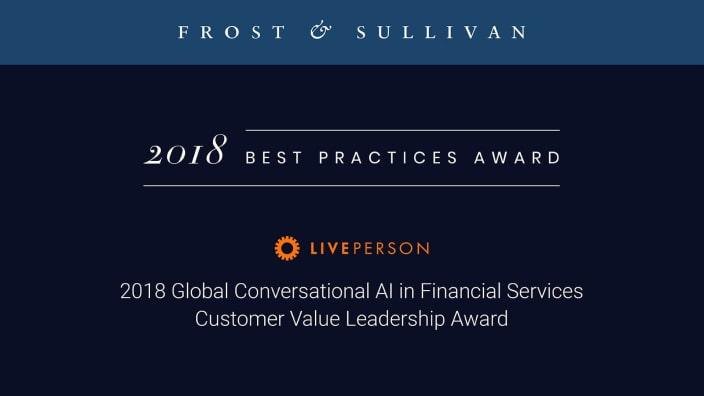 Frost & Sullivan names LivePerson winner of Customer Value Leadership Award